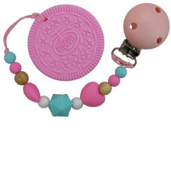 Прорезыватель Tini World Розовый бисквит