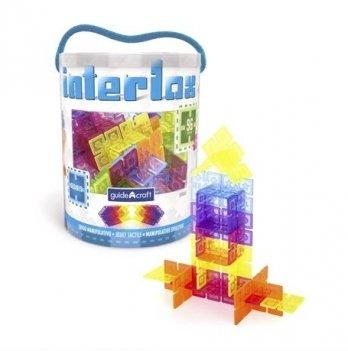 Конструктор Interlox Squares Guidecraft G16835 Квадраты 96 деталей