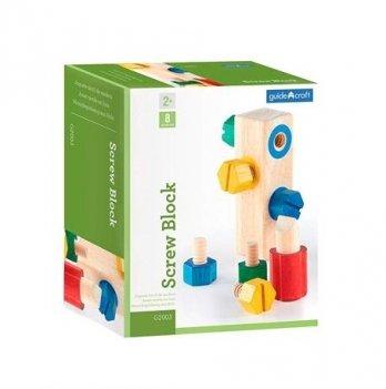 Игровой набор Manipulatives Guidecraft G2003 Блок с винтами