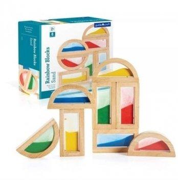 Набор стандартных блоков Block Play Guidecraft G3014 Цветной песок