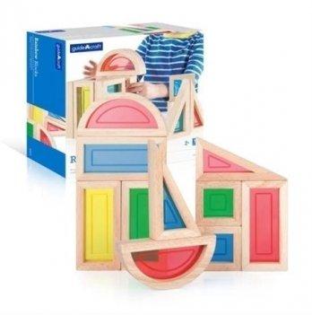 Набор стандартных блоков Block Play Guidecraft G3015 Большая радуга 10 шт