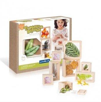 Набор блоков Natural Play Guidecraft G3084 Сокровища в ящиках прозрачный