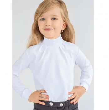 Гольф для девочки Модный карапуз, белый