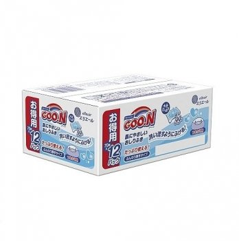Влажные салфетки для чувствительной кожи GOO.N 12 мягких сменных блоков по 70 шт 733781
