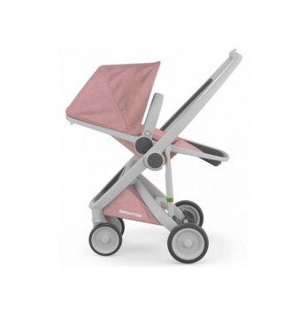 Коляска прогулочная Greentom Upp Reversible, серая/розовая