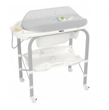 Пеленальный столик CAM Cambio, с ванночкой, серый