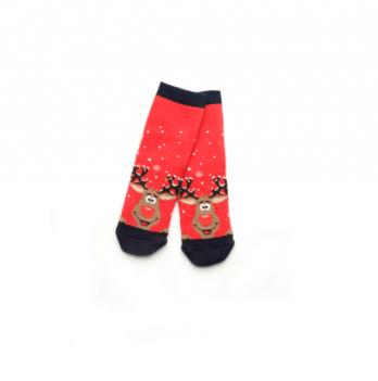 Носки махровые Модный карапуз Олени красный 101-00849