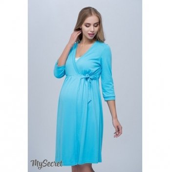 Халат для беременных и кормящих MySecret Sinty Голубой NW-4.3.3