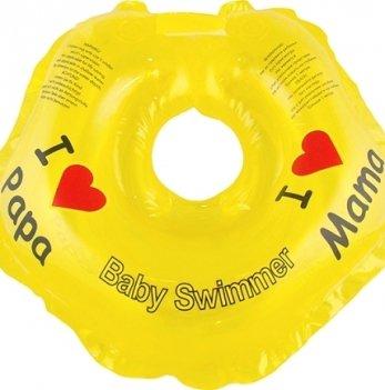 Круг BabySwimmer Я люблю для детей от 0-24 месяцев и 3-12 кг желтый