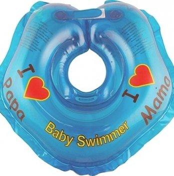 Круг BabySwimmer Я люблю для детей от 0-24 месяцев и 3-12 кг синий