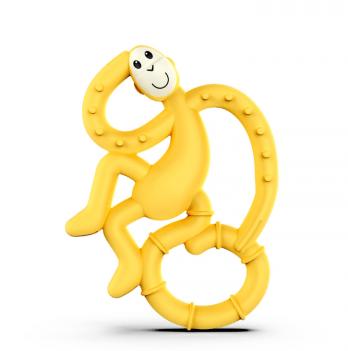 Игрушка-прорезыватель Matchstick Monkey Танцующая обезьянка, 14 см, желтый