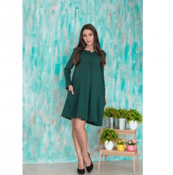 Платье для беременных и кормящих мам Интрига Tariva Cotton 00035 зеленый
