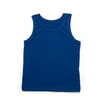 Майка однотонная для мальчика Модный карапуз, синяя