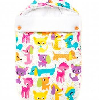 Зимний конверт для младенцев GoforKid, хлопок, Игрушечный зоопарк