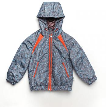 Куртка для мальчика Модный карапуз, серая