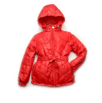 Куртка демисезонная для девочки Модный карапуз, красная