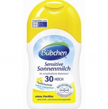 Солнцезащитное молочко для детской кожи Bubchen Sensitive SPF 30, 150 мл