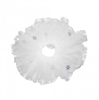 Юбка для малышки Interkids Жемчуг Снежинки Белый 779