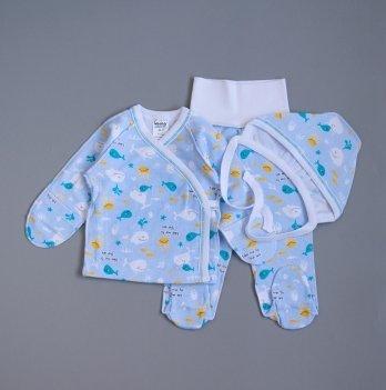 Комплект одежды для новорожденного Interkids Киты Голубой 2634