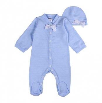 Человечек для новорожденных Interkids Крошка Голубой 0-3 мес 2638
