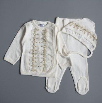 Комплект для крещения малышей Interkids Малышка Бежевый 0-3 мес 4702