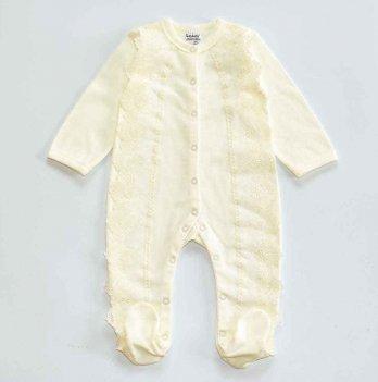 Человечек для новорожденных Interkids Алиса Молочный 3-9 мес 4748