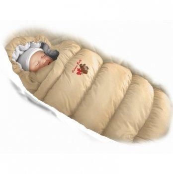Пуховый конверт Inflated Ontario Baby с подкладкой из флиса Зима+Деми ART-0000316 бежевый