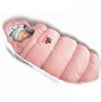 Пуховый конверт Inflated Ontario Baby с подкладкой из флиса Зима+Деми ART-0000315 розовый