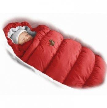 Пуховый конверт Inflated Ontario Baby с подкладкой из флиса Зима+Деми ART-0000314 красный