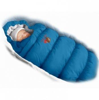 Пуховый конверт Inflated Ontario Baby с подкладкой из флиса Зима+Деми ART-0000320 васильковый
