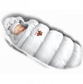 Пуховый конверт Inflated Ontario Baby с подкладкой из флиса Зима+Деми ART-0000323 белый