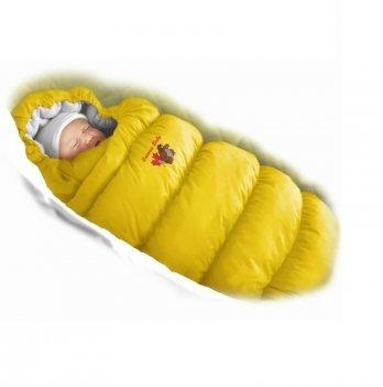 Пуховый конверт Inflated Ontario Baby с подкладкой из флиса Зима+Деми ART-0000317 желтый