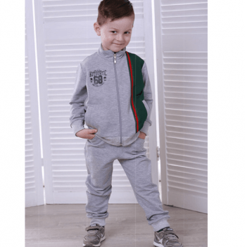 Спортивный костюм для мальчика Joiks, возраст от 2 до 7 лет, серый