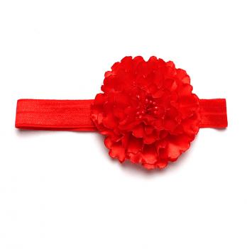 Повязка на голову Модный карапуз, ручной работы, красная