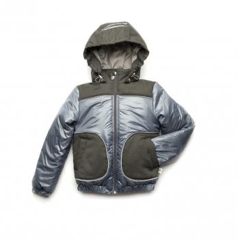 Куртка демисезонная для мальчика Модный карапуз, серая