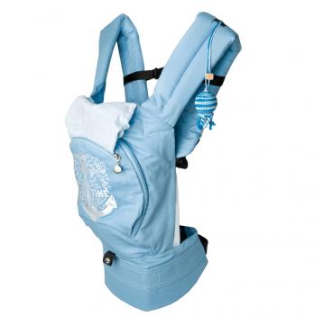Эргономичный рюкзак Модный карапуз My baby, голубой (с сеточкой)