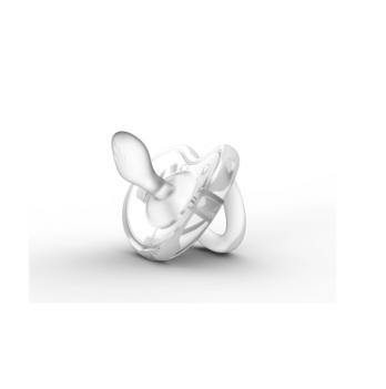 Пустышка ортодонтическая Nuvita, Orthosoft 0м+, белая