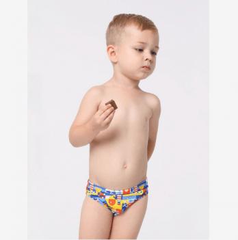 Плавки для мальчика Keyzi Sailor slip возраст от 2 до 5 лет синие с рисунком