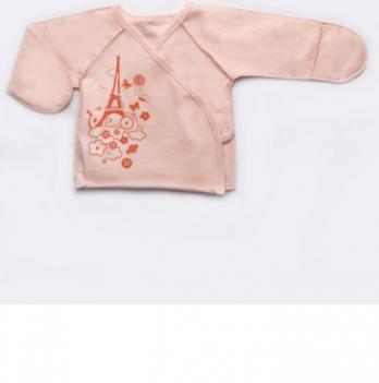 Распашонка для новорожденных Модный карапуз, персиковая