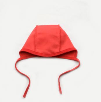 Шапочка-чепчик для новорожденного Модный карапуз, бордовая
