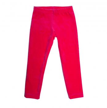 Лосины велюровые для девочки Модный карапуз, 2-5 лет, красные
