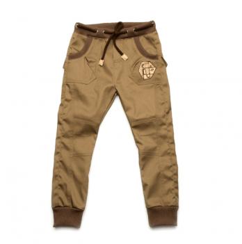 Брюки джинсового типа для мальчика Модный карапуз, цвета хаки