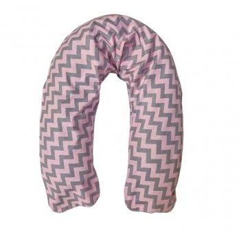 Наволочка на подушку-релакс для беременных и кормящих Мамин дом 2055 розовый зигзаг