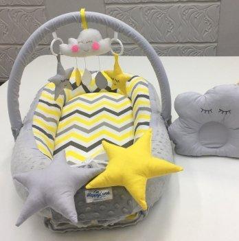 Кокон-гнездышко Happy Luna 0145 Babynest Plush Геометрия