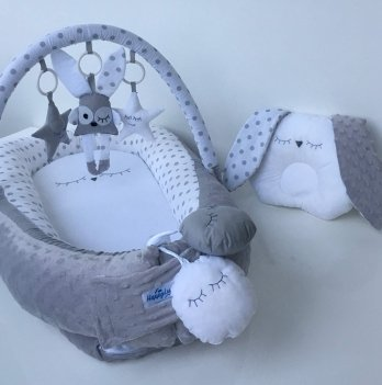 Кокон-гнездышко Happy Luna 0107 Babynest Plush Зайка 2