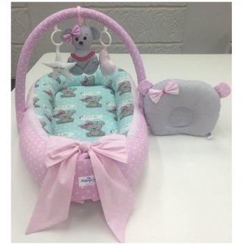 Кокон-гнездышко Happy Luna 0151 Babynest Plush Мышка