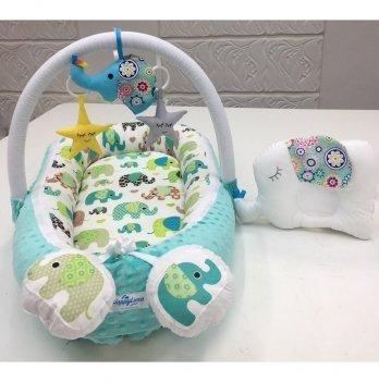 Кокон-гнездышко Happy Luna 0154 Babynest Plush Слоник 2