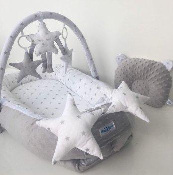 Кокон-гнездышко Happy Luna 0152 Babynest Plush Звездочки