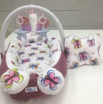 Кокон-гнездышко Happy Luna 0156 Babynest Plush Бабочка