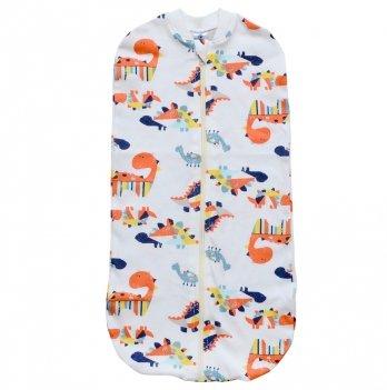 Пеленка кокон на молнии Minikin I Like 0-9 месяцев Молочный/Оранжевый 2010003